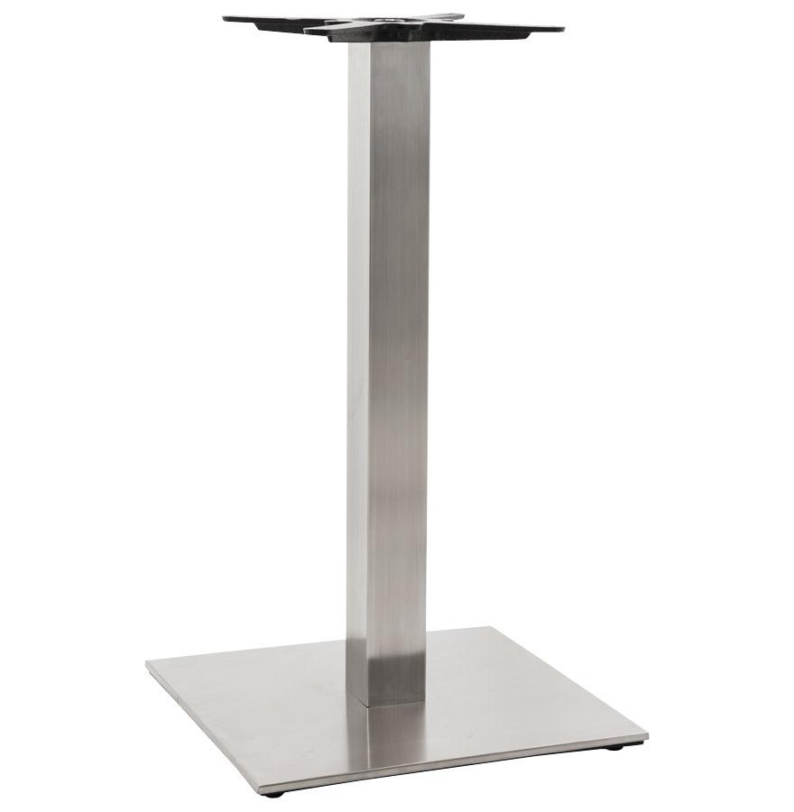 Pied de table 'KARO' 90 en acier brossé