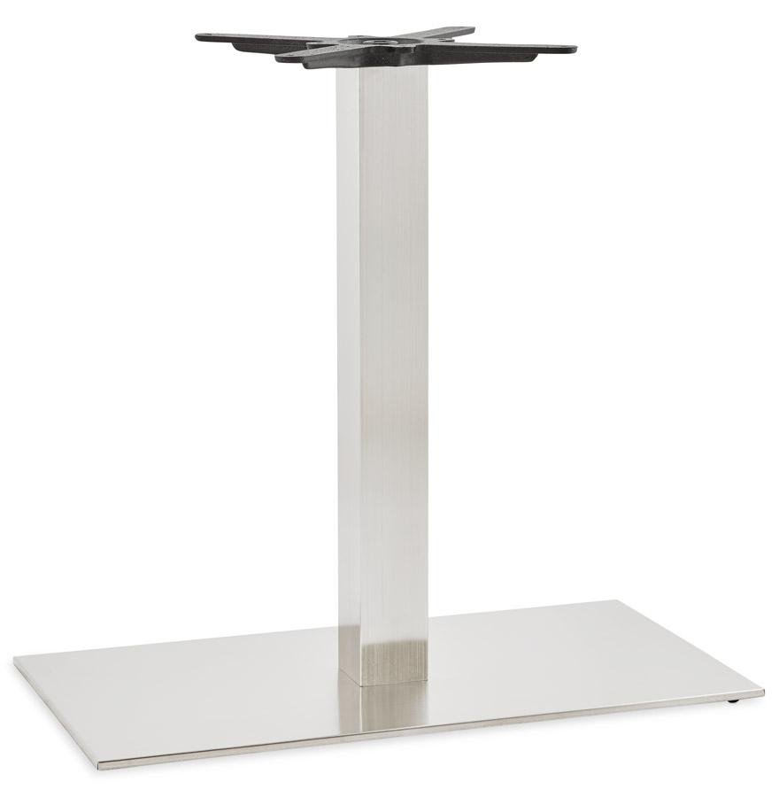 Pied de table 'KARO XL' 75 en acier brossé