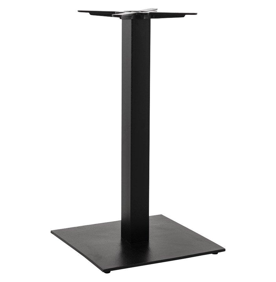 Pied de table 'NERO' 90 en métal peint noir