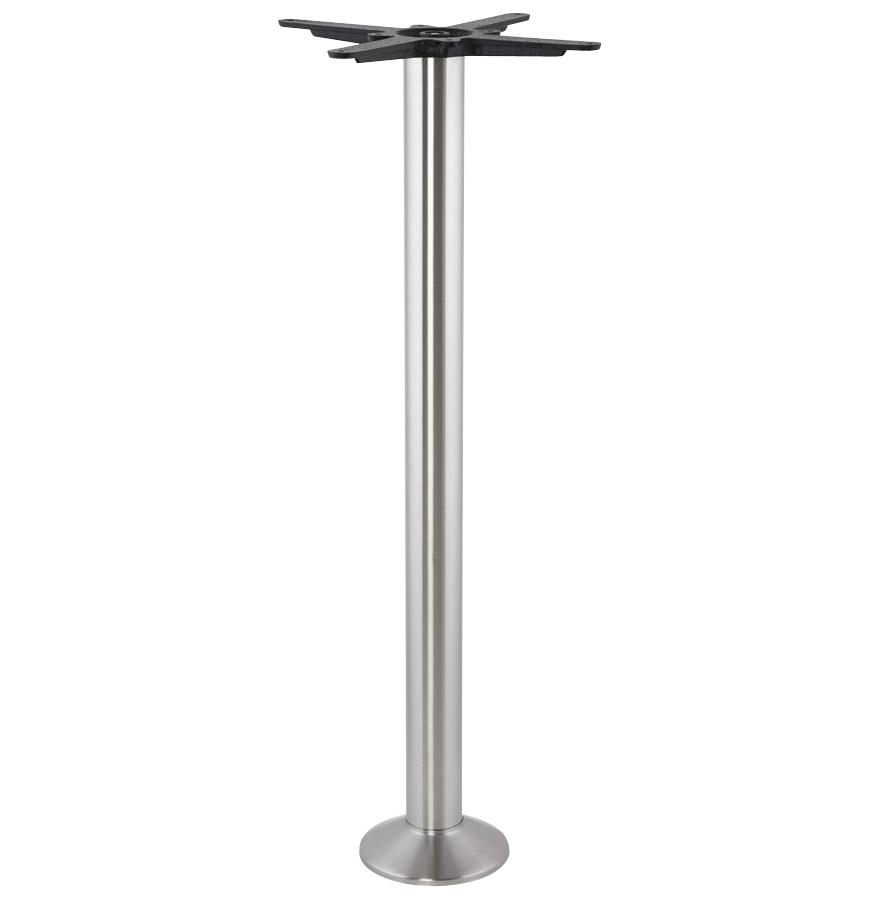 Pied de table 'PIKET' 110 cm en métal brossé à base ronde
