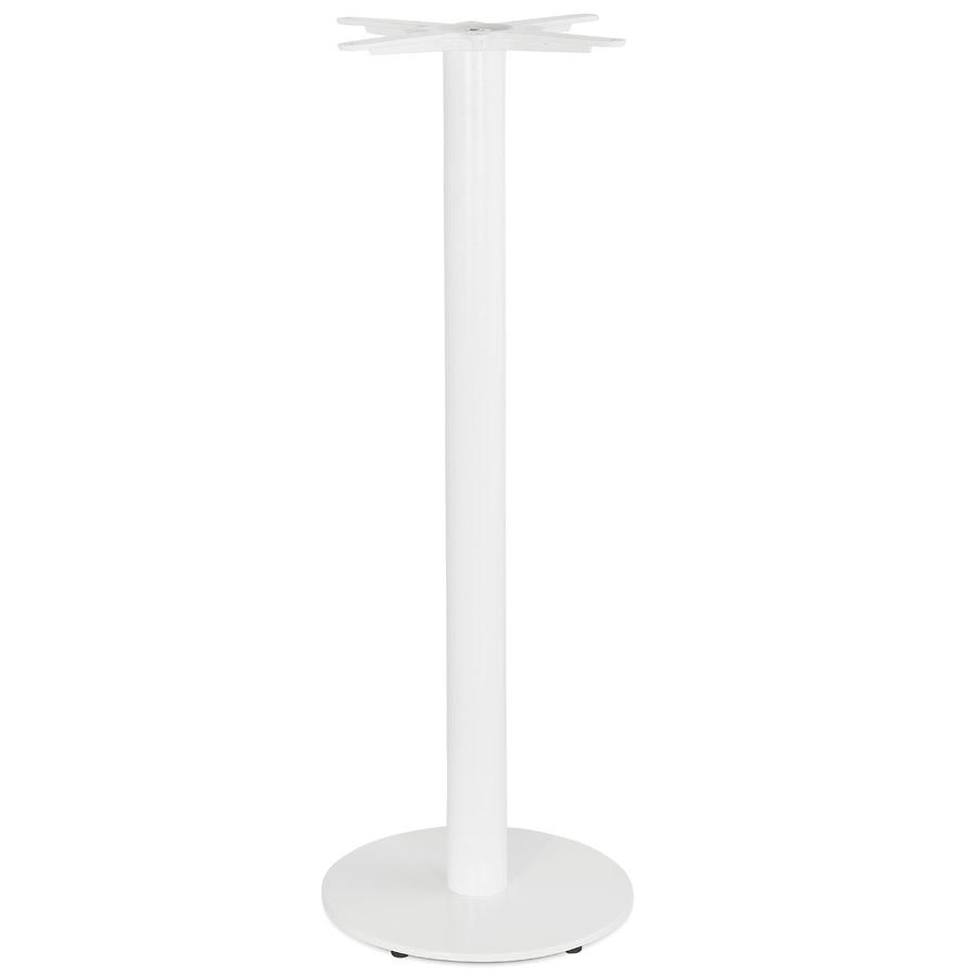 Pied de table rond 'CORTADO' 110 en métal blanc intérieur/extérieur