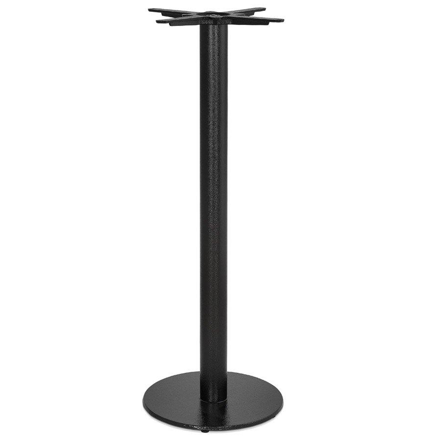 Pied de table rond 'CORTADO' 110 en métal noir intérieur/extérieur
