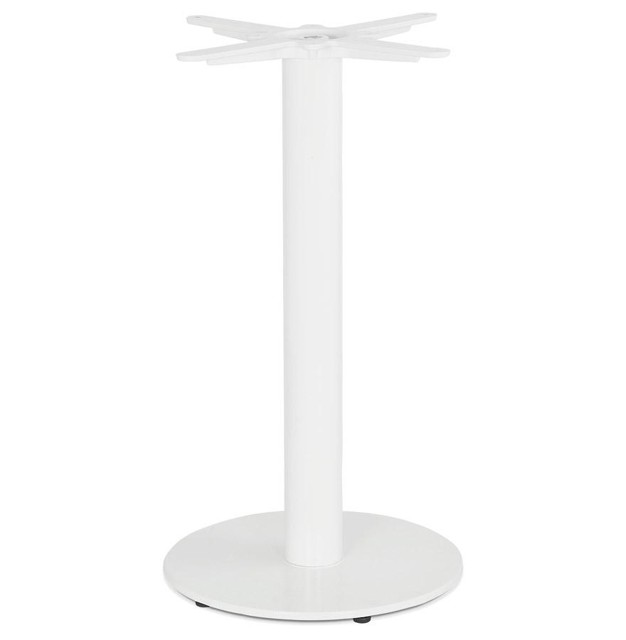 Pied de table rond 'CORTADO' 75 en métal blanc intérieur/extérieur