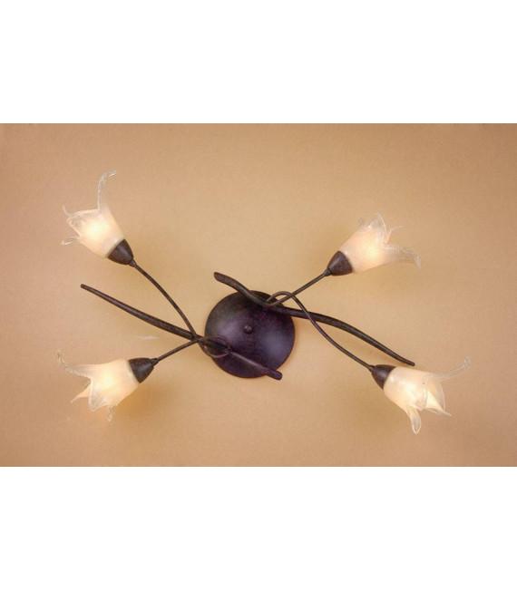 Plafonnier Florida 4 Ampoules E14, marron/noir oxydé