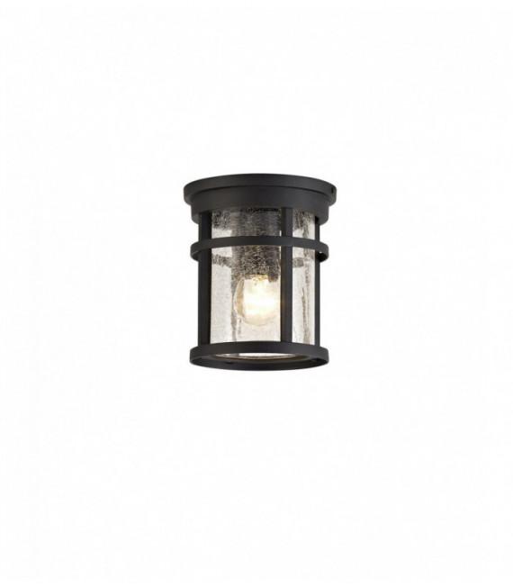 Plafonnier IP54 Cosmo 1 Ampoule Noir 6,5 Cm