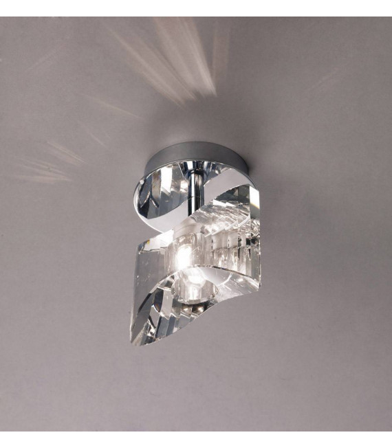 Plafonnier Kromo 1 Ampoule G9, chrome poli