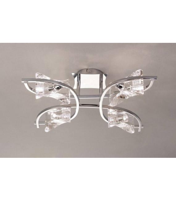 Plafonnier Kromo 4 Ampoules G9, chrome poli