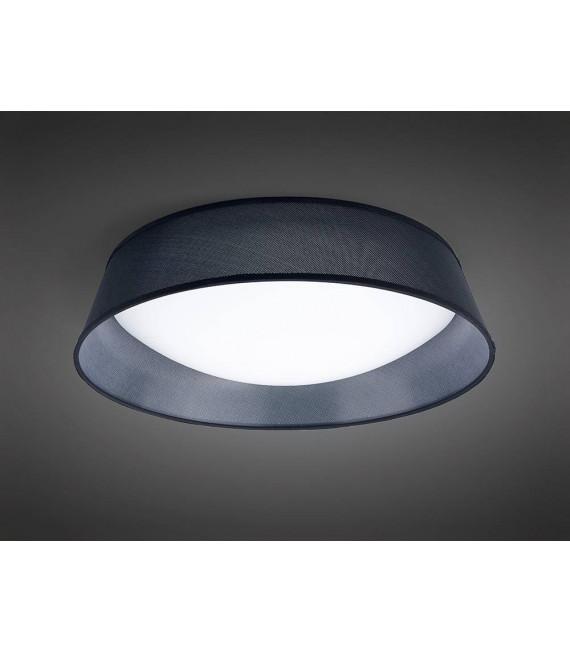 Plafonnier Nordica 30W LED 60CM noir 3000K, 3000lm, arylique blanc avec Abat jour noir