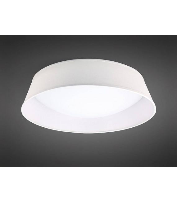 Plafonnier Nordica 30W LED 60CM Off blanc 3000K, 3000lm, arylique blanc avec Abat jour blanc ivoire