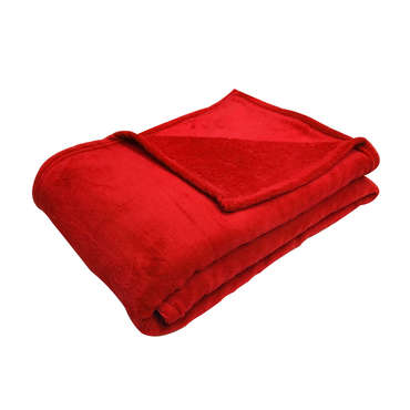 Plaid 140x200 cm LILOU coloris rouge