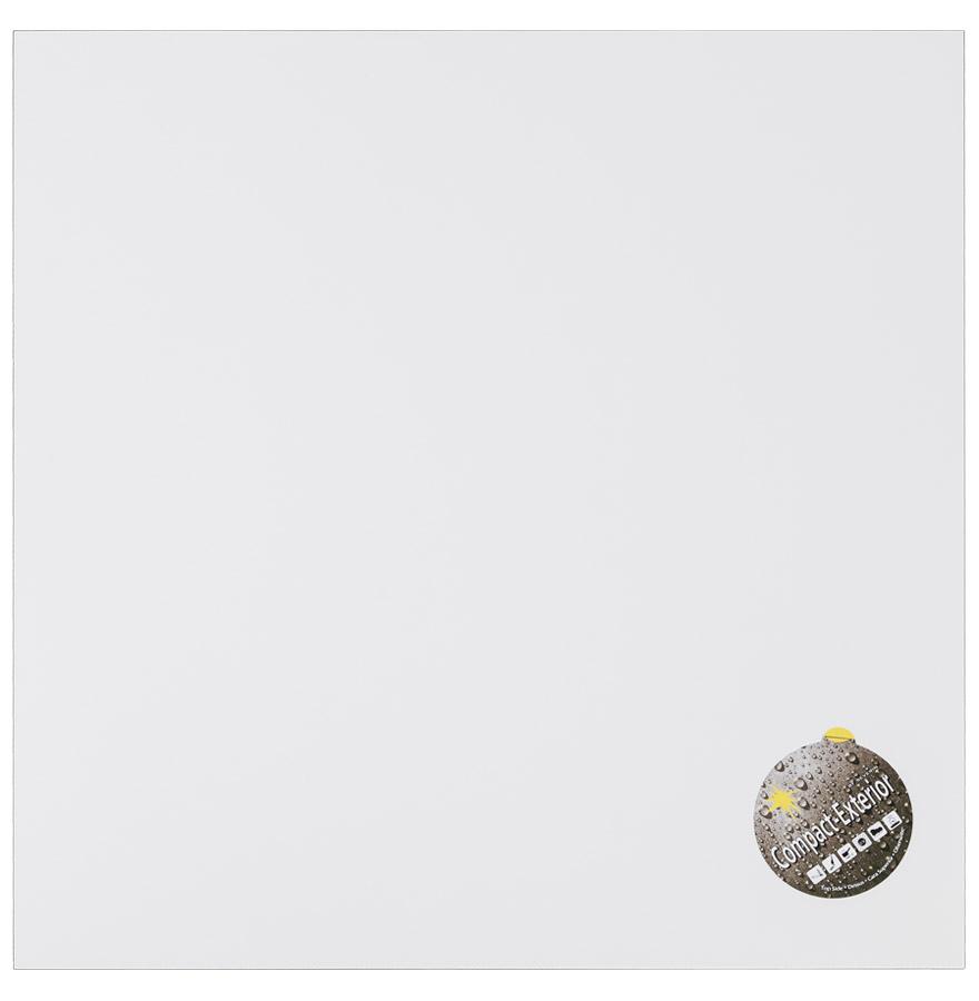 Plateau de table 'PLANO' carré 68x68cm blanc en résine compressée