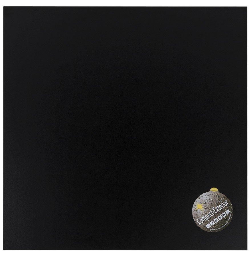 Plateau de table 'PLANO' carré 68x68cm noir en résine compressée