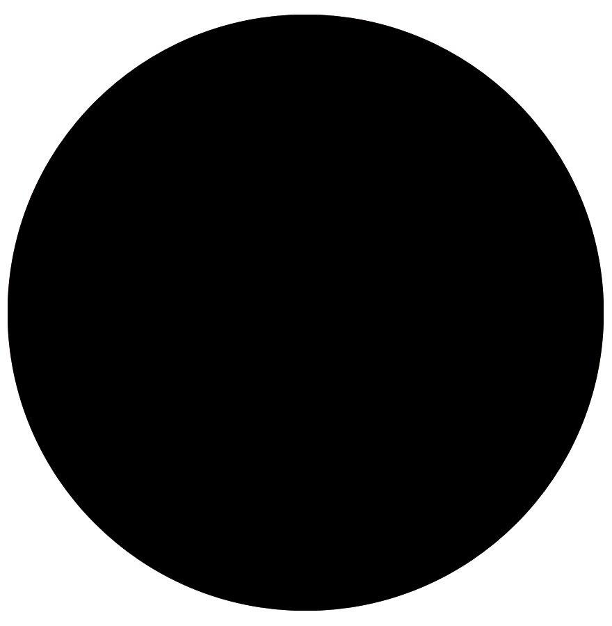 Plateau de table 'RINGO' rond Ø 60cm noir