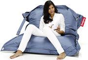 Pouf Buggle-up / Avec sangles ajustables - Fatboy L. 190 cm x l. 140 cm jeans bleu clair en tissu