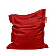 Pouf Original Slim Teddy / Tissu duveteux ultra-doux - 155 x 120 cm - Fatboy 155 x 120 cm - Capacité : 260 litres rouge en tissu