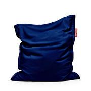Pouf Original Slim Teddy / Tissu duveteux ultra-doux - 155 x 120 cm - Fatboy 155 x 120 cm - Capacité : 260 litres bleu roi en tissu