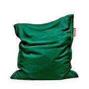 Pouf Original Slim Teddy / Tissu duveteux ultra-doux - 155 x 120 cm - Fatboy 155 x 120 cm - Capacité : 260 litres vert émeraude en tissu