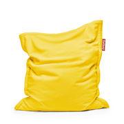 Pouf Original Slim Teddy / Tissu duveteux ultra-doux - 155 x 120 cm - Fatboy 155 x 120 cm - Capacité : 260 litres citron en tissu