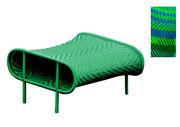 Pouf Shadowy - Sunny - Moroso bleu,vert en matière plastique