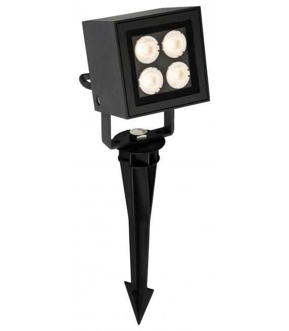 Projecteur LED Spike, carré, graphite