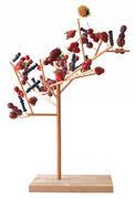 Présentoir à nourriture Mangier - Arbre à manger arbre à manger - H 67 cm - Smarin hêtre en bois