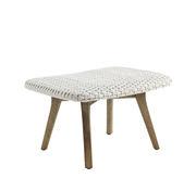 Repose-pieds Collection Knit - repose-pied / Pouf - Corde synthétique - Ethimo beige,teck décapé en tissu