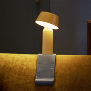 Sangle de fixation accoudoir aimantée / Pour lampe Bicoca - Marset gris en tissu