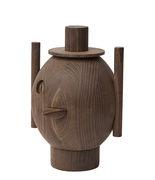 Sculpture Geo #1 / By Jaime Hayon - Fritz Hansen bois foncé en bois