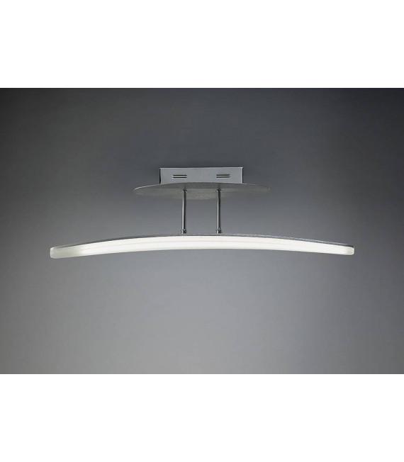 Semi Plafonnier Hemisferic 20W LED 70cm Bar 3000K, 1800lm, aluminium satiné/acrylique givré