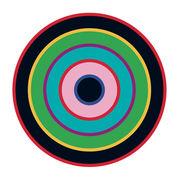 Sticker Target 1 - Domestic bleu,noir,vert en matière plastique