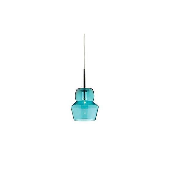 Suspension Bleue ZENO 1 ampoule Diamètre 16 Cm