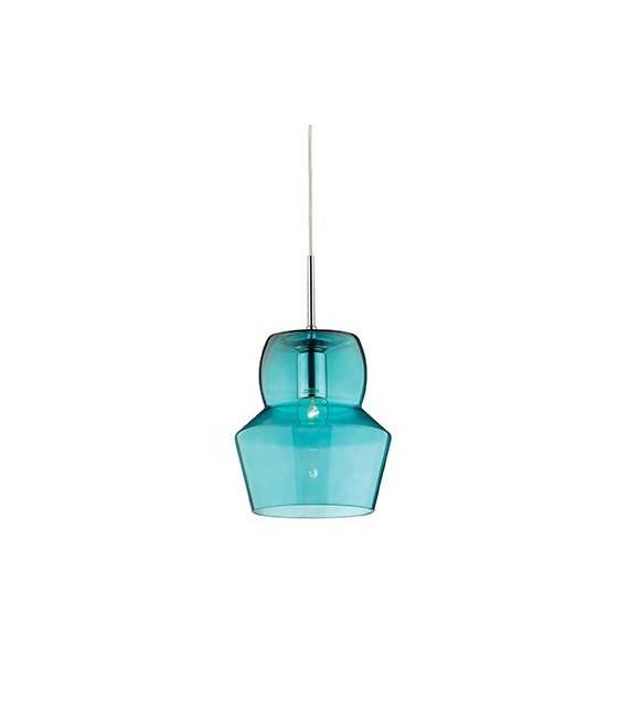 Suspension Bleue ZENO 1 ampoule Diamètre 22 Cm