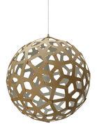 Suspension Coral / Ø 60 cm - Bicolore blanc & bois - David Trubridge blanc,bois naturel en bois