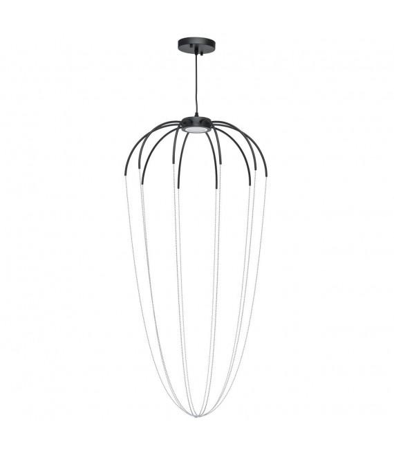 Suspension design noire Industrial 230 Cm