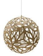 Suspension Floral / Ø 40 cm - Bicolore blanc & bois - David Trubridge blanc,bois naturel en bois