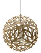 Suspension Floral / Ø 60 cm - Bicolore blanc & bois - David Trubridge blanc,bois naturel en bois