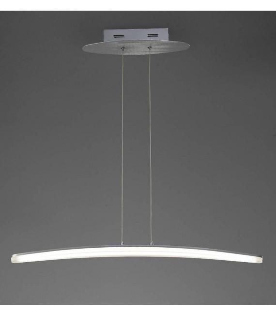 Suspension Hemisferic 20W LED 70cm Bar 3000K, 1800lm, aluminium satiné/acrylique givré