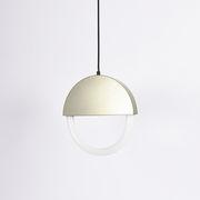 Suspension Percent LED / Ø 30 cm - Forme plate - ENOstudio champagne en métal