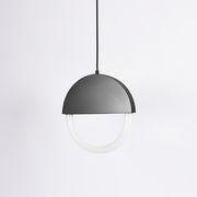 Suspension Percent LED / Ø 30 cm - Forme plate - ENOstudio noir en métal