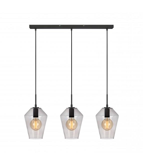 Suspension RETRO Noir 3 ampoules