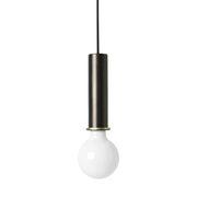 Suspension Socket High / H 17 cm - Ferm Living laiton,noir métallisé en métal