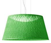 Suspension Wind / Ø 60 x H 30 cm - Vibia vert en matière plastique