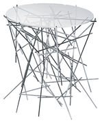 Table basse Blow up - Alessi acier,transparent en métal