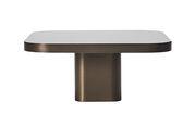 Table basse Bow n°3 / 70 x 70 cm - ClassiCon noir,laiton bruni en métal