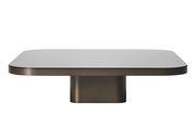 Table basse Bow n°5 / 100 x 100 cm - ClassiCon noir,laiton bruni en métal