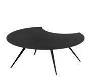 Table basse Dara / Rognée - Acier peint époxy - Ø 100 cm - Zeus noir cuivré en métal