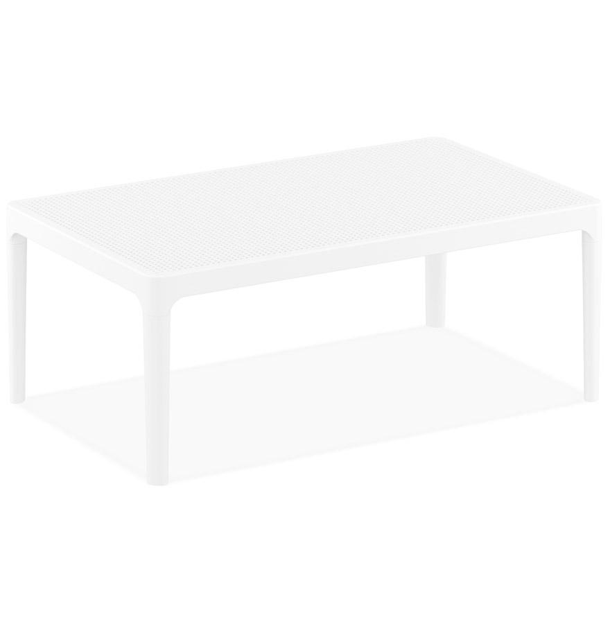 Table basse de jardin 'DOTY' blanche design - 100x60 cm