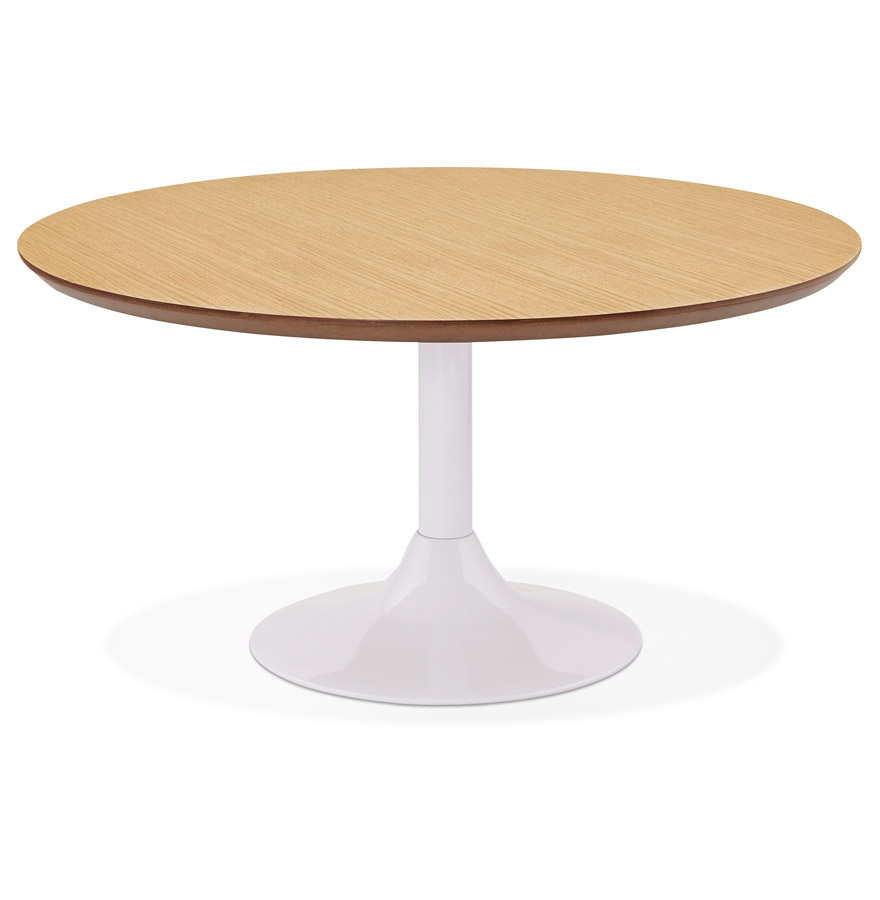 Table basse lounge ESTRELLA en bois finition naturelle - Ø 90 cm