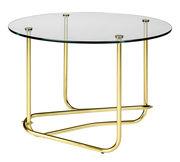 Table basse Lounge Table / Matégot - Ø 41 x H 58 cm - Gubi transparent,laiton en métal