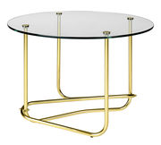Table basse Lounge Table / Matégot - Ø 41 x H 58 cm - Gubi transparent,laiton en métal